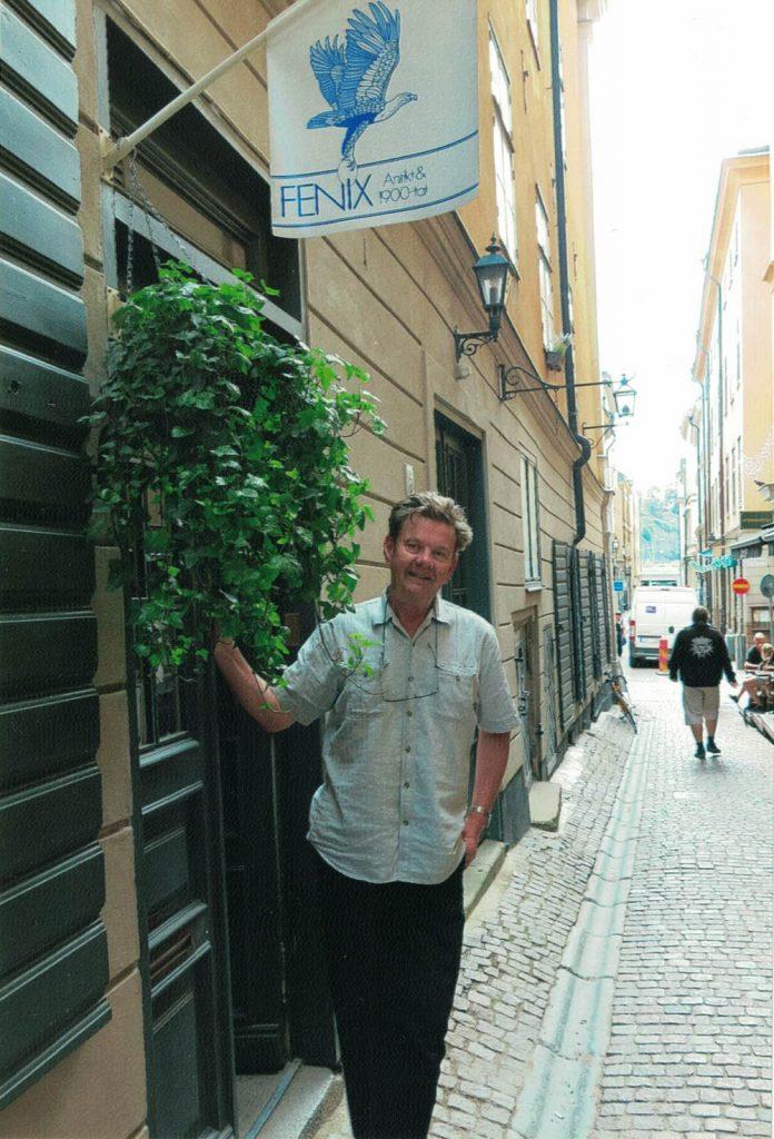 Bo Jerndell, innehavare av Fenix Antikhandel i Gamla stan.